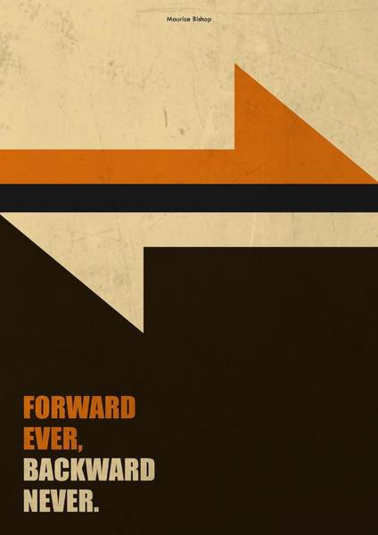 Wall Art - Digital Art - Forward Ever, Backward Never Corporate Start-up Quotes Poster by Lab No 4
