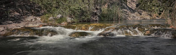 Photograph - Fossil Creek Rapids Pano Bz by Theo O'Connor