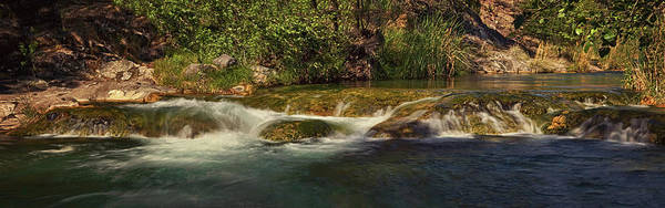 Photograph - Fossil Creek Rapids Pano Tx by Theo O'Connor