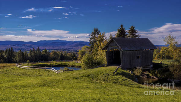 Photograph - Foster Covered Bridge by Scenic Vermont Photography