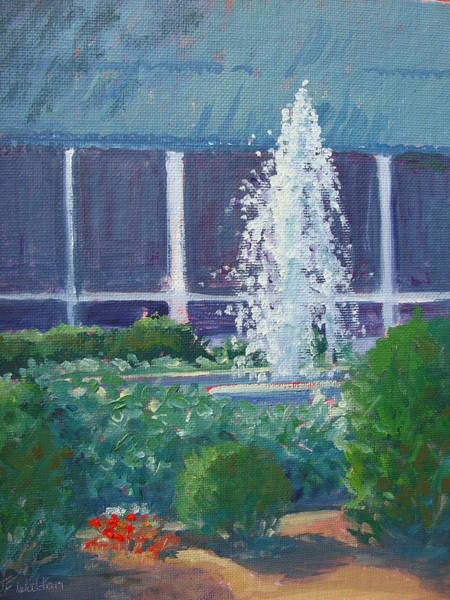 Painting - Fountain At Lakeside by Judy Fischer Walton