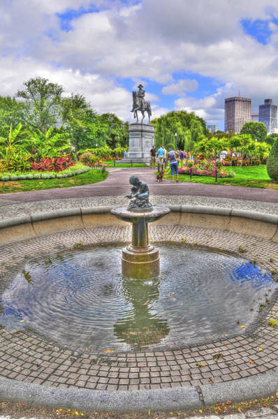 Wall Art - Photograph - Fountain At The Public Garden In Boston by Randy Aveille