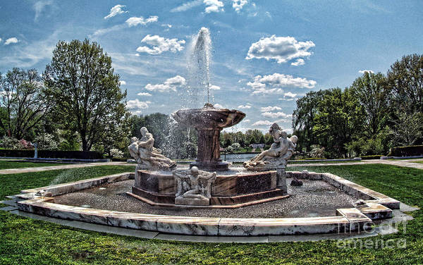 Fountain - Cleveland Museum Of Art Art Print