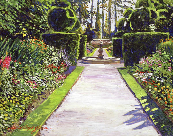 Estate Painting - Fountain Green by David Lloyd Glover