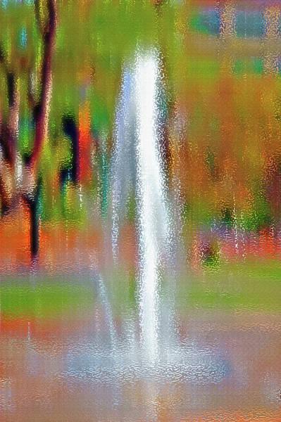 Fun Wall Art - Photograph - Fountain In City Park 1 by Steve Ohlsen