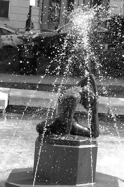 Wall Art - Photograph - Fountain In Peabody Conservatory Garden, Baltimore by Kenlynn Schroeder