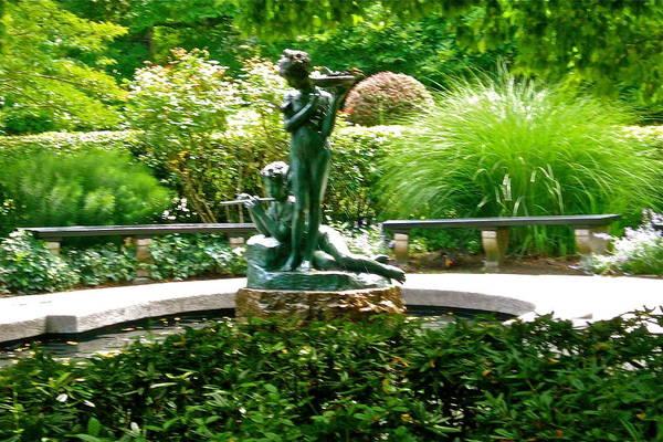 Fountain In The Park Art Print