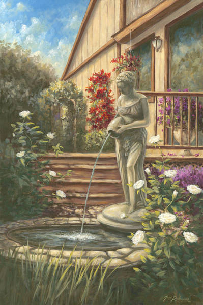 Painting - Fountain Lady by Jose Rodriguez