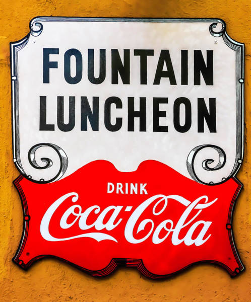 Wall Art - Photograph - Fountain Luncheon Sign by Garry Gay