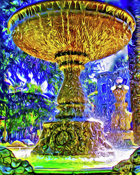 Wall Art - Photograph - Fountain Of Gold by Jerome Stumphauzer