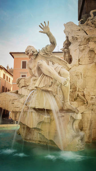 Photograph - Fountain Of The Four Rivers Rome Italy by Joan Carroll