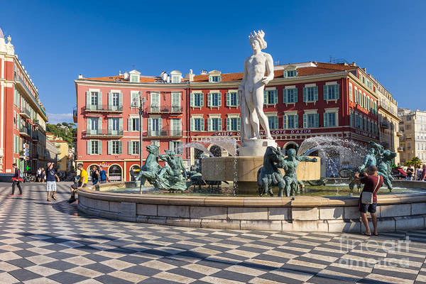 Wall Art - Photograph - Fountain Of The Sun At Place Massena In Nice by Elena Elisseeva