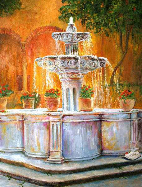 Overflow Painting - Fountain Of Truth by Alan Schwartz