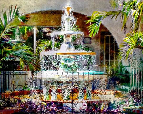 Wall Art - Painting - Fountain Of Water by Barbara Chichester