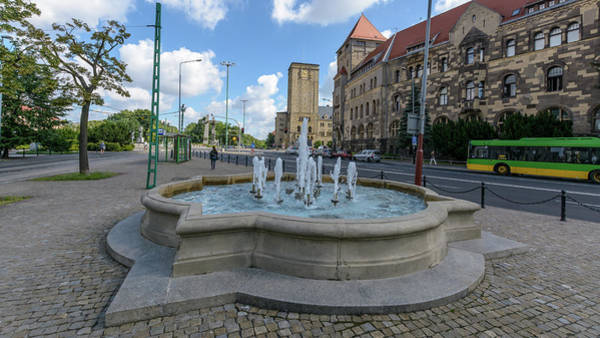 Photograph - Fountain On Independence Avenue Poznan by Jacek Wojnarowski