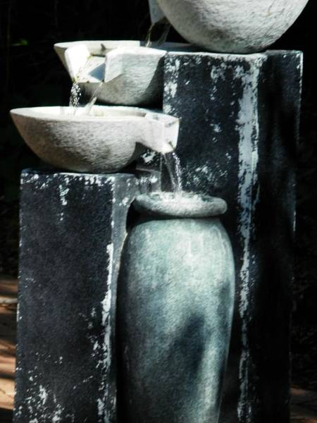 Photograph - Fountain Spill by Deborah Kunesh
