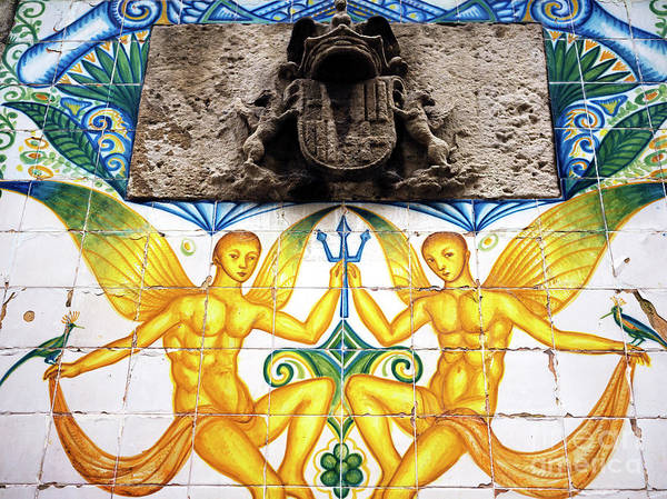 Photograph - Fountain Tile Design In Barcelona by John Rizzuto