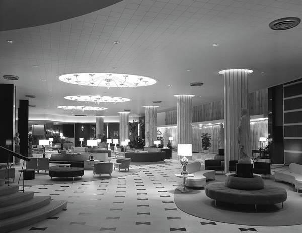 Wall Art - Photograph - Fountainbleau Hotel Lobby - Miami 1955 by Daniel Hagerman