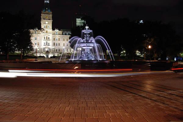 John Schneider Wall Art - Photograph - Fountaine De Tourny And Quebec Parliament by John Schneider