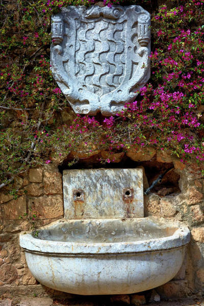 Photograph - Fountains And Flowers At The Roman Walls In Tarragona by Fine Art Photography Prints By Eduardo Accorinti