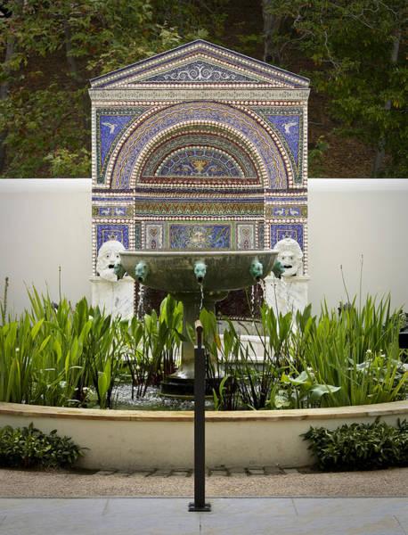 J Paul Getty Photograph - Fountains At The Getty Villa by Teresa Mucha