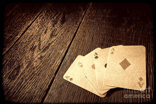 Photograph - Four Aces   by American West Legend By Olivier Le Queinec