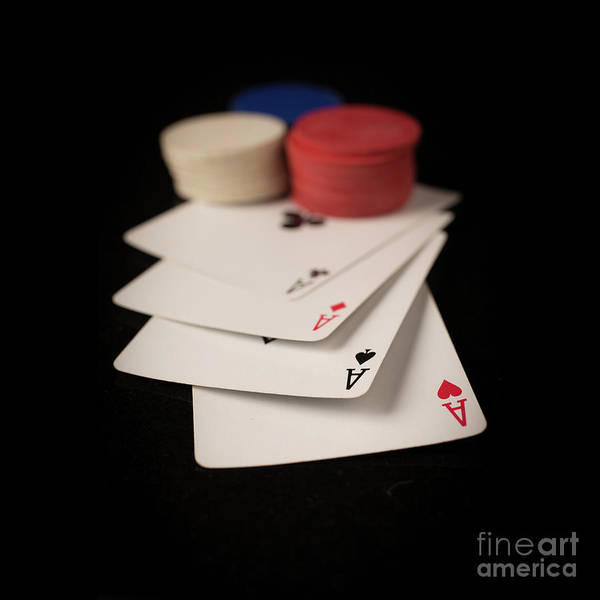 Wall Art - Photograph - Four Aces Poker by Edward Fielding