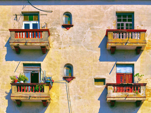 Photograph - Four Balconies by Dominic Piperata