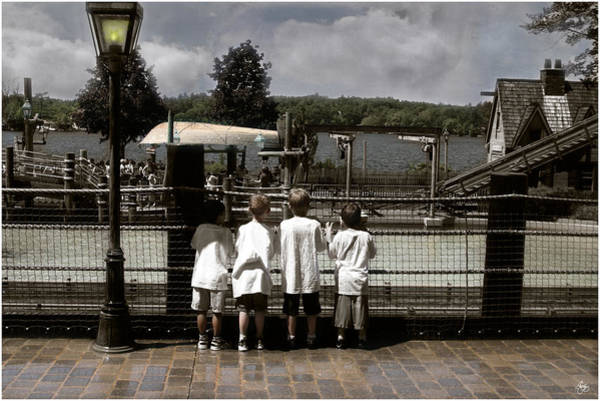 Photograph - Four Boys At Canobie by Wayne King