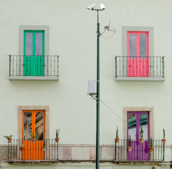 Photograph - Four Coloured Doors. by Rob Huntley
