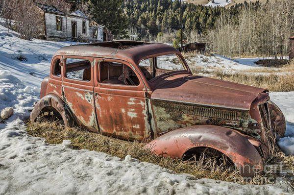 Photograph - Four Door Antique Vehicle by Sue Smith