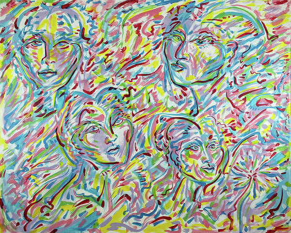 Ranchera Wall Art - Painting - Four Faces Of Hope by Jimmy Longoria