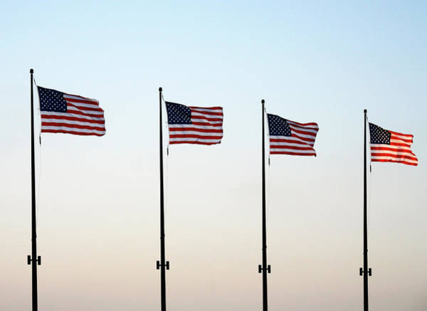 Photograph - Four Flags At Navy Pier Chicago by Marilyn Hunt