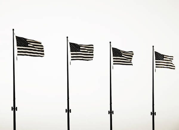 Photograph - Four Flags At Navy Pier by Marilyn Hunt