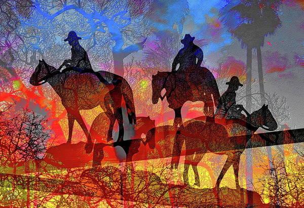 Digital Art - Four Horsemen by Visual Artist Frank Bonilla