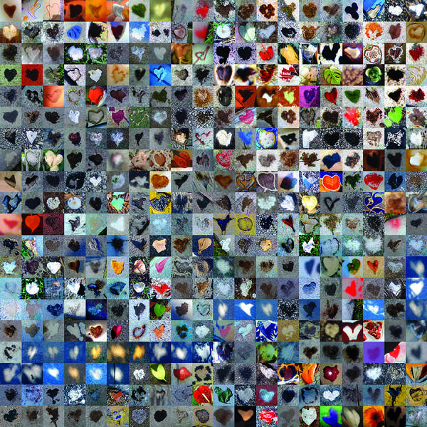 Mosaic Photograph - Four Hundred And One Hearts by Boy Sees Hearts
