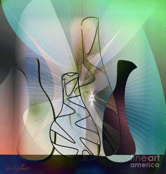 Jug Digital Art - Four Jugs by Iris Gelbart