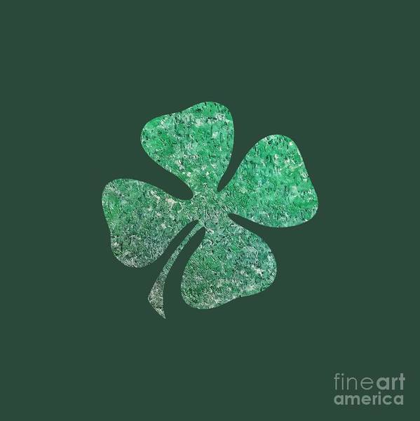 Painting - Four Leaf Clover by Rachel Hannah