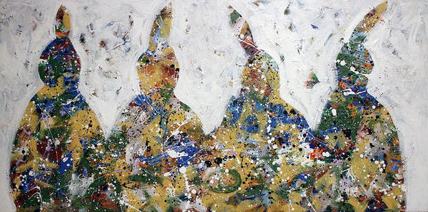 Painting - Four Little Indians by Lance Headlee
