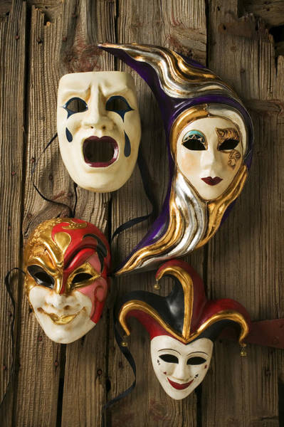 Gra Photograph - Four Masks by Garry Gay