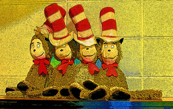 Sock Monkey Photograph - Four Of A Kind by Shirley Sykes Bracken