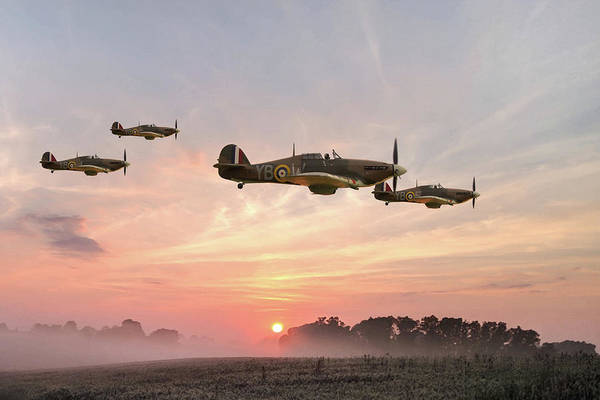 Royal Air Force Digital Art - Four Of The Few by Mark Donoghue