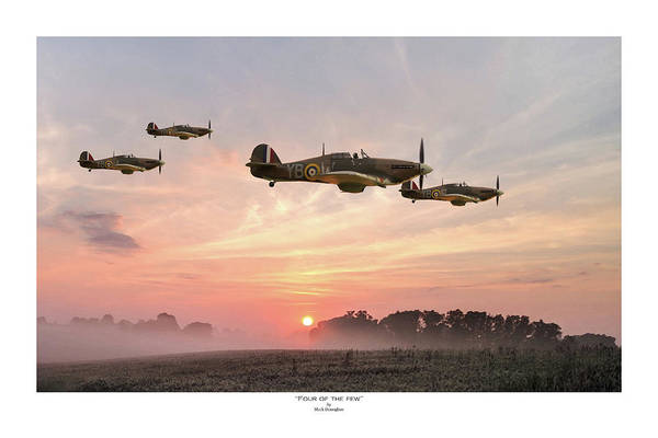Royal Air Force Digital Art - Four Of The Few - Titled by Mark Donoghue