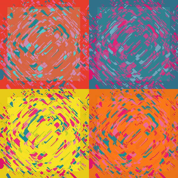 Digital Art - Four Panel Swirls Of Tabs by Joy McKenzie