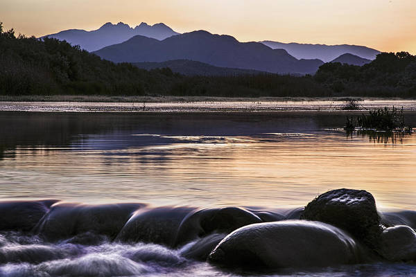 Photograph - Four Peaks Rocky Waterflow by Dave Dilli