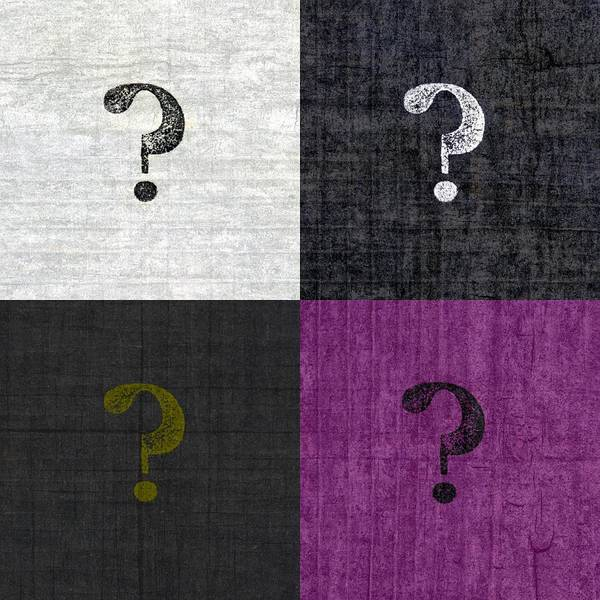 Graphic Digital Art - Four Question Marks by Michelle Calkins