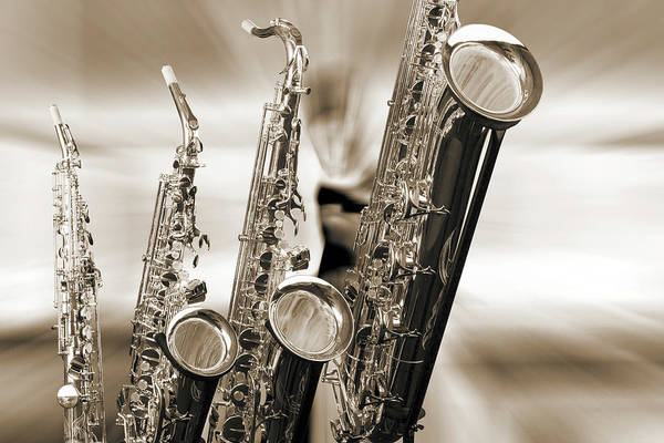 Photograph - Four Saxes 3360.01 by M K Miller