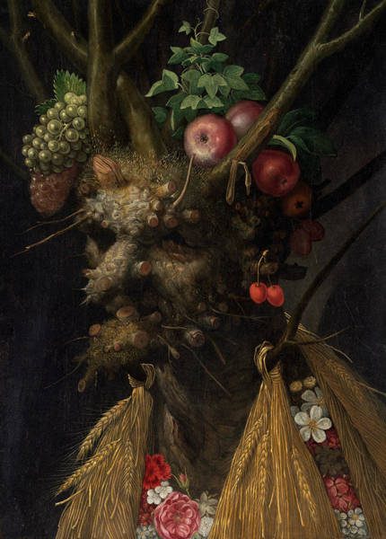 Painting - Four Seasons In One Head by Giuseppe Arcimboldo