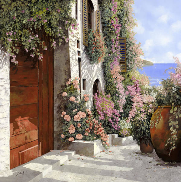4 Wall Art - Painting - four seasons- spring in Tuscany by Guido Borelli