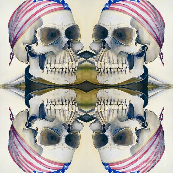 Digital Art - Four Skulls by Mastiff Studios